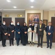 بازدید خانم شهربانو موسوی از موسسه و دیدار با جناب دکتر زاده باقری