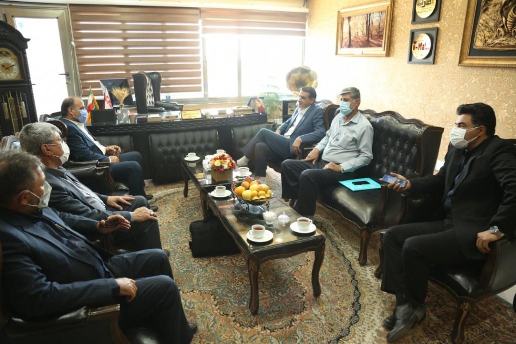 دیدار جناب آقای حیدر بحرانی رئیس کل دادگستری استان بوشهر با جناب دکتر زاده باقری